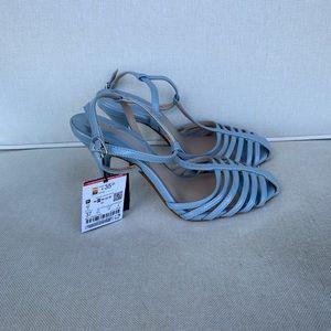 NWT Zara blue sandals